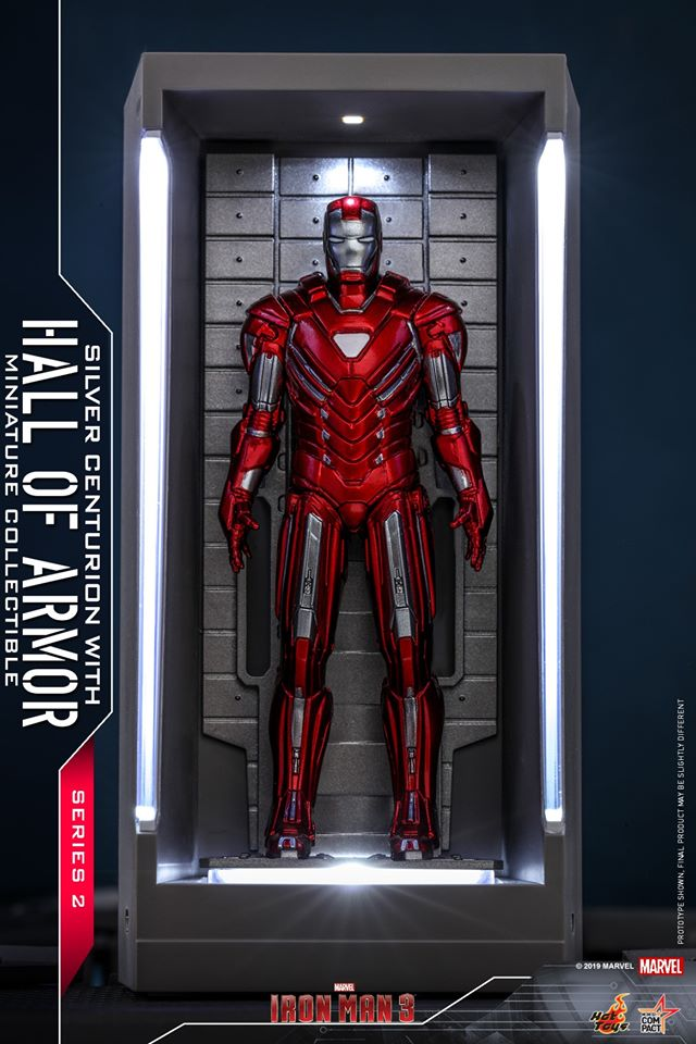 MMSC016 - Iron Man Silver Centurion With Hall Of Armor Miniature Collectible - ActionCity