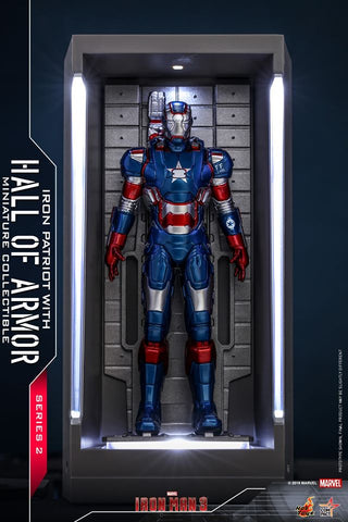 MMSC018 - Iron Patriot With Hall Of Armor Miniature Collectible - ActionCity