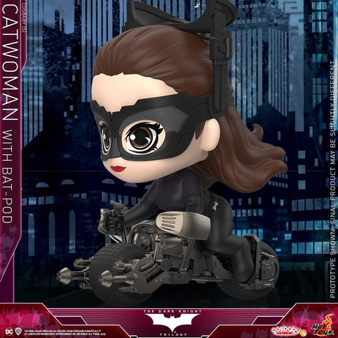 COSB725 - The Dark Knight Rises Catwoman with Bat-Pod Cosbaby (S) Collectible Set - ActionCity