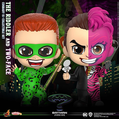 COSB720 - Batman Forever: The Riddler and Two Face Cosbaby (S) Collectible Set - ActionCity