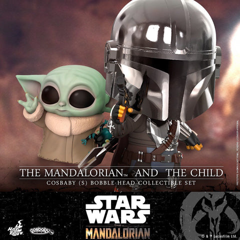 COSB741 - Mandalorian And The Child Bobble Head Cosbaby (S) Collectible Set - ActionCity