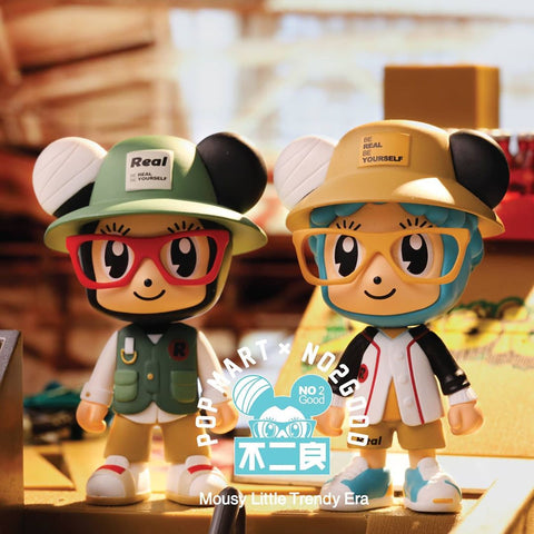 ActionCity Live: Pop Mart Mousy Little Trendy Era by No2Good Series - Case of 12 Blind Boxes - ActionCity