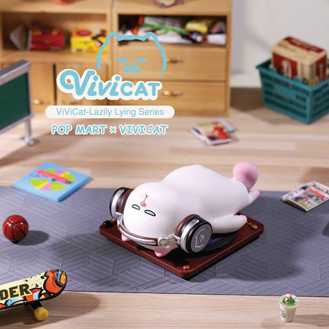ActionCity Live: Pop Mart Vivicat Lazily Lying Series 3 - Case of 9 Blind Boxes - ActionCity