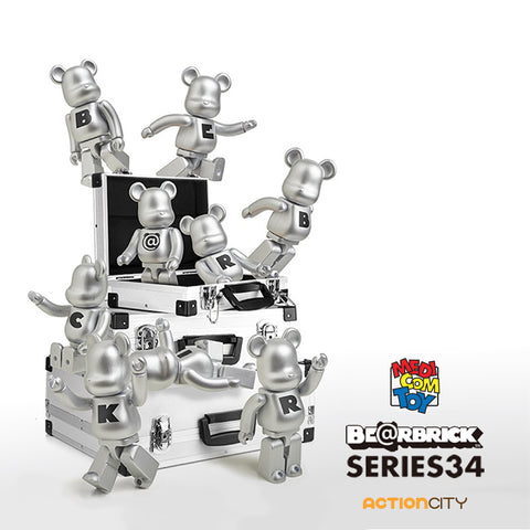 BE@RBRICK  Series 34 - Basic (Complete Set of 9pcs - B . E . @ . R . B* . R . I . C . K)