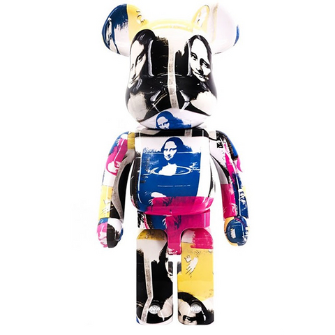 BE@RBRICK Andy Warhol Mona Lisa Colored 1000% - ActionCity