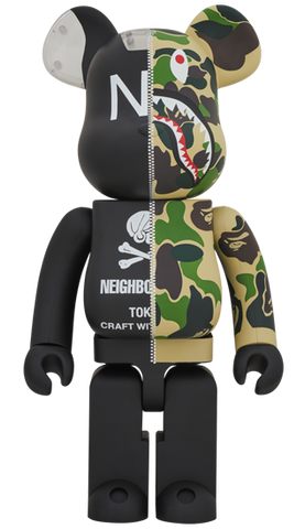 Bearbrick A Bathing Ape X Neighborhood | Action City Singapore