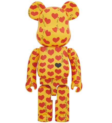 Bearbrick Yellow Heart - Bearbrick 1000% - ActionCity Singapore