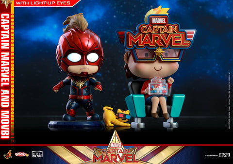 Captain Marvel & Movbi Cosbaby Set | ActionCity Singapore