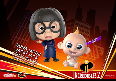 COSB482 - Incredibles 2 - Cosbaby (S) Series - Edna Mode & Jack-Jack Cosbaby (S) Collectible Set - ActionCity