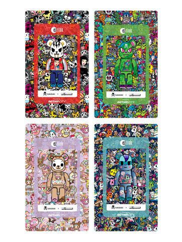 NEW tokidoki x BE@RBRICK EZ-Link Cards set of 4