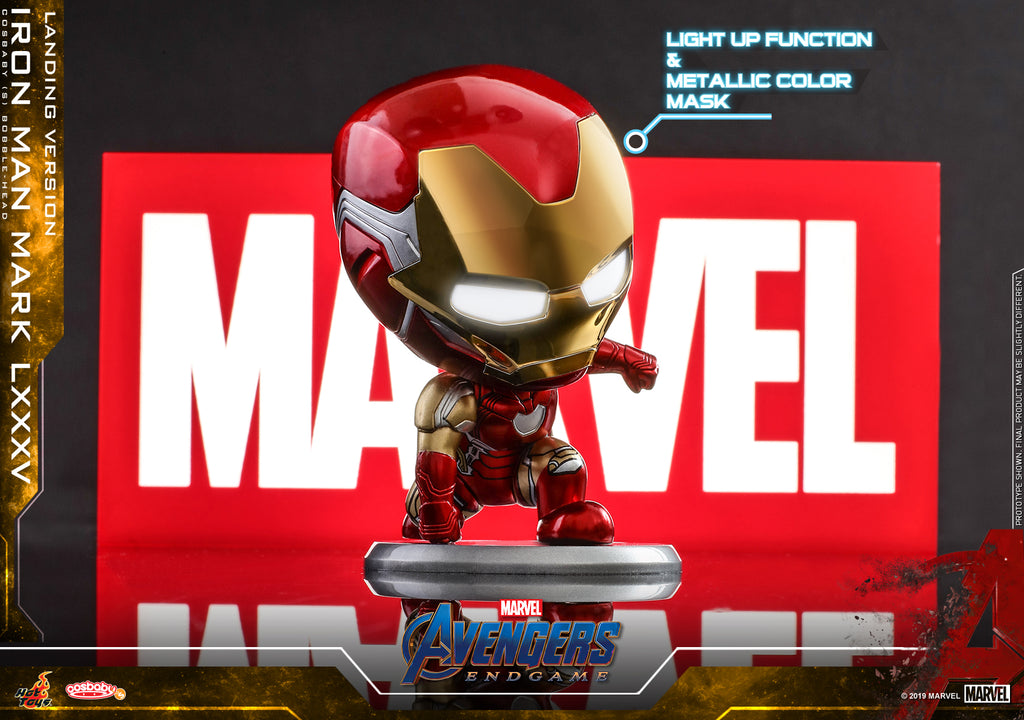 COSB596 Avengers: Endgame ‐ Iron Man Mark LXXXV (Landing Version) + PLIG005N Marvel Light Box (BGM)
