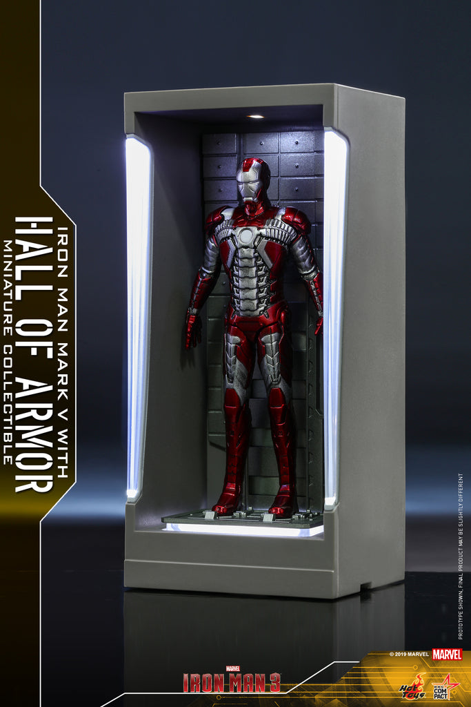 MMSC009 - Iron Man Mark V with Hall of Armor Miniature Collectible (BGCO)