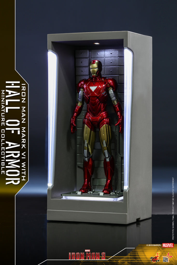 MMSC010 - Iron Man Mark VI with Hall of Armor Miniature Collectible (BGCO) - ActionCity