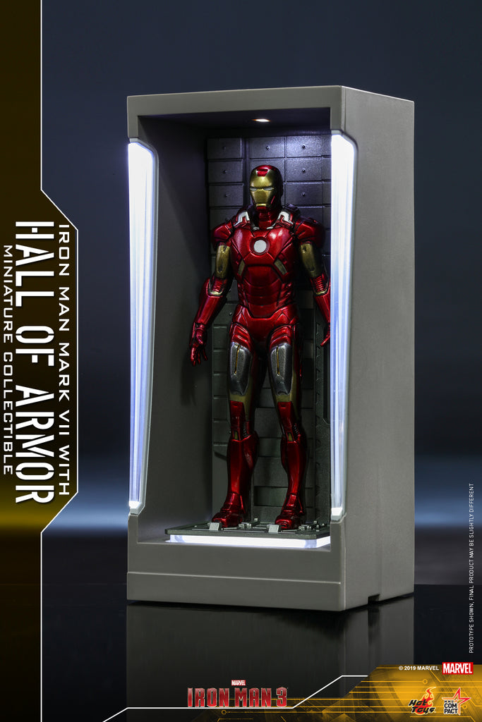 MMSC011 - Iron Man Mark VII with Hall of Armor Miniature Collectible (BGCO) - ActionCity