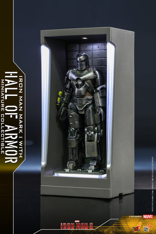 MMSC005 - Iron Man Mark I with Hall of Armor Miniature Collectible (BGCO)