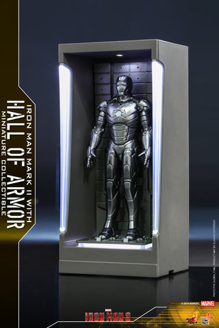MMSC006 - Iron Man Mark II with Hall of Armor Miniature Collectible (BGCO)