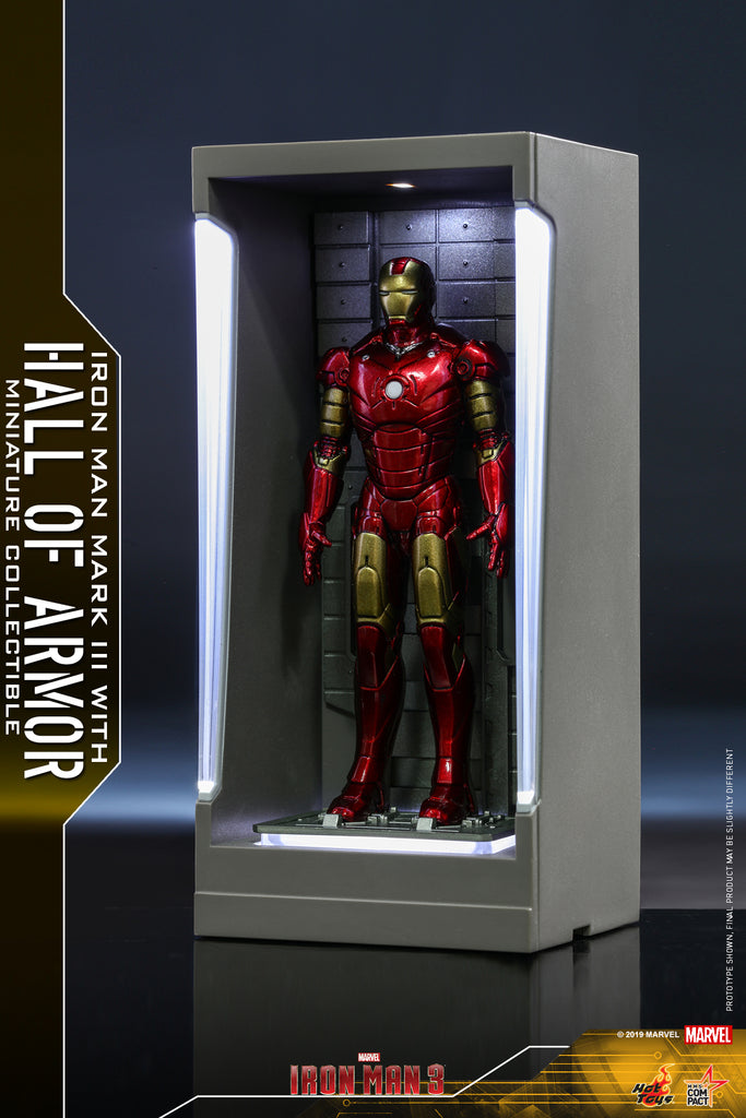 MMSC007 - Iron Man Mark III with Hall of Armor Miniature Collectible (BGCO)