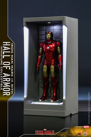 MMSC007 - Iron Man Mark III with Hall of Armor Miniature Collectible (BGCO) - ActionCity