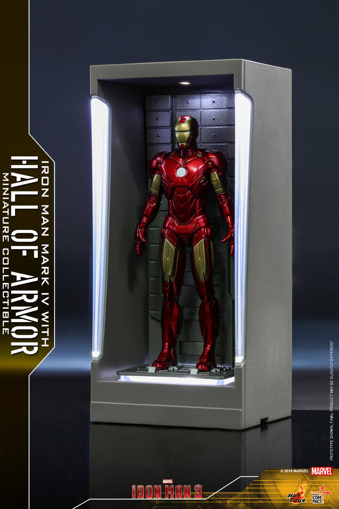 MMSC008 - Iron Man Mark IV with Hall of Armor Miniature Collectible (BGCO) - ActionCity