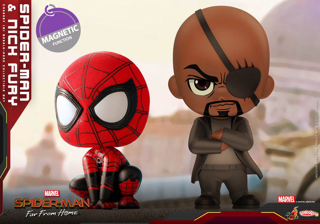 COSB632 – Spider-Man and Nick Fury Cosbaby (S) Collectible Set (BGM) - ActionCity