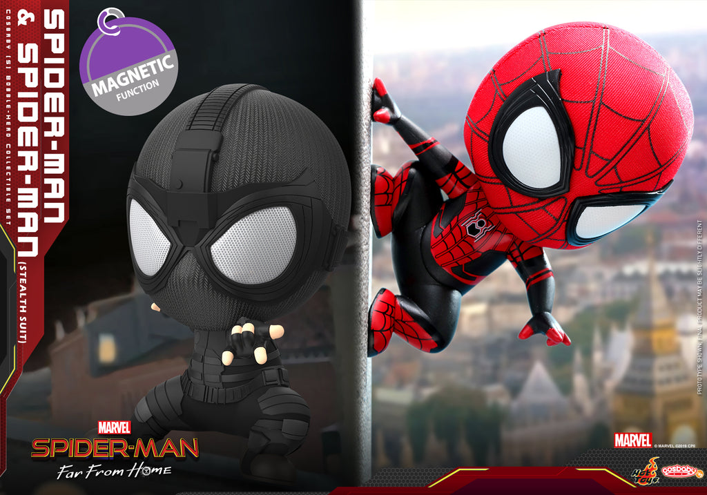 COSB634 – Spider-Man and Spider-Man (Stealth Suit) Cosbaby (S) Collectible Set (BGM) - ActionCity