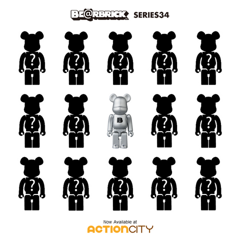 BE@RBRICK  Series 34 - Case of 24 Blind Boxes