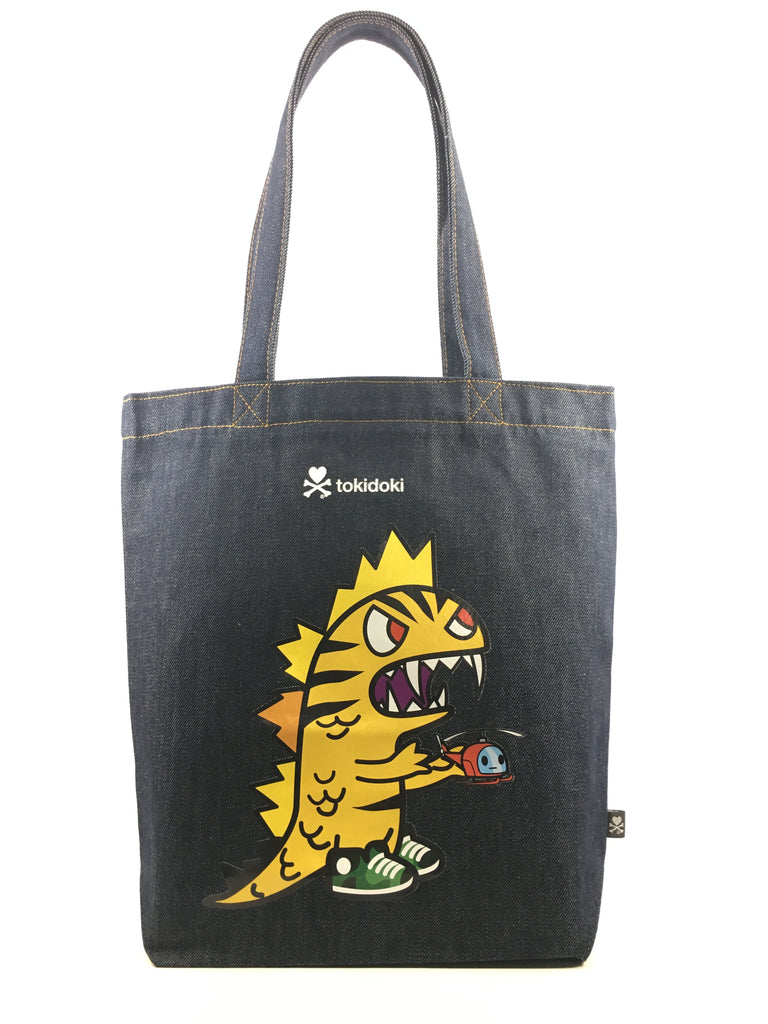 [LATEST ARRIVAL!] tokidoki DENIM TOTE BAG (KAIJU)