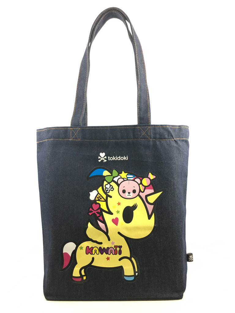 [LATEST ARRIVAL!] tokidoki DENIM TOTE BAG (UNICORNO)