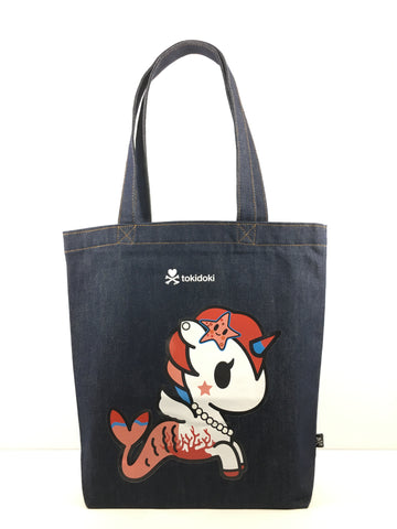 [LATEST ARRIVAL!] tokidoki DENIM TOTE BAG (MERMICORNO)