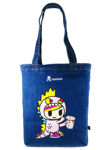 [LATEST ARRIVAL!] tokidoki DENIM TOTE BAG (KAIJU - LITTLE TERROR)