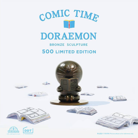 """Comic Time"" Doraemon Bronze Sculpture - ActionCity"