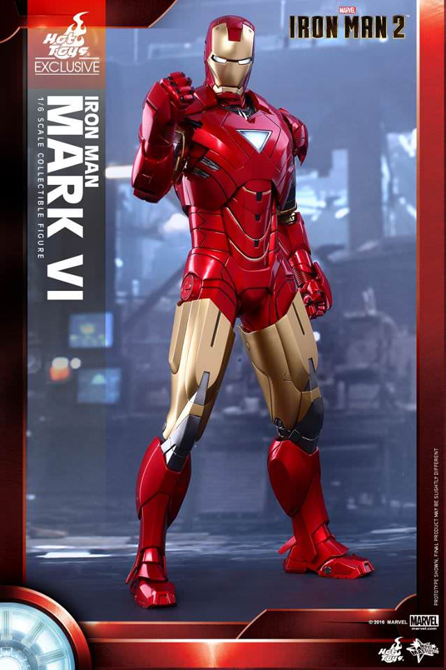 MMS339 - Iron Man 2 Mark VI 1/6th Scale Collectible Figure - ActionCity
