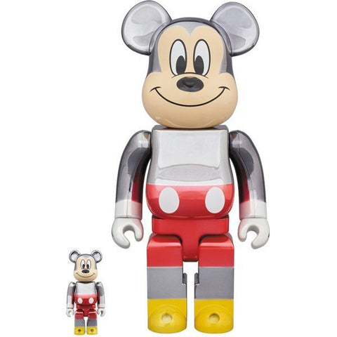 BE@RBRICK Fragmentdesign Mickey Mouse Color Ver. 100% & 400% - ActionCity