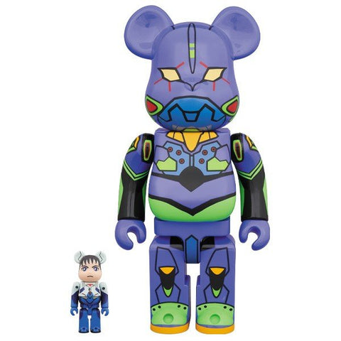 BE@RBRICK Shinji 100% & Evangelion 400% - ActionCity