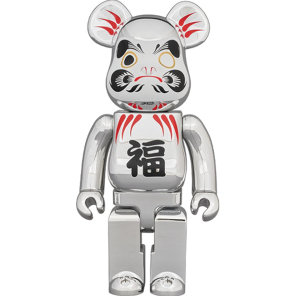 BE@RBRICK Daruma Silver Plated 400% - ActionCity