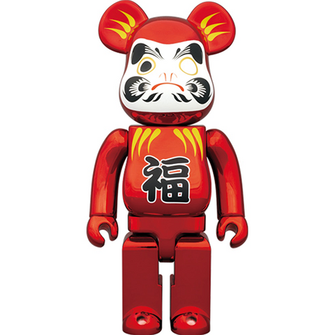 BE@RBRICK Daruma Red Plated 400% - ActionCity