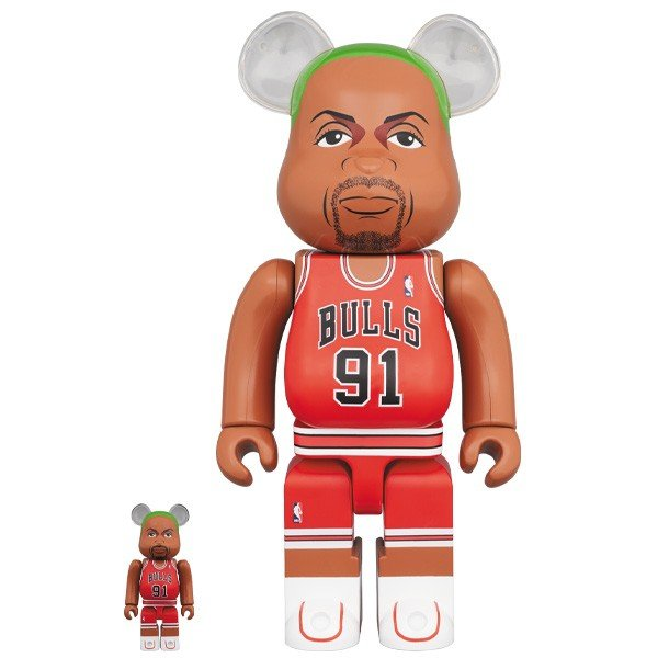 BE@RBRICK Dennis Rodman (Chicago Bulls) 100% & 400%