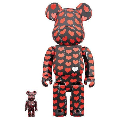 BE@RBRICK Black Heart 100% & 400%