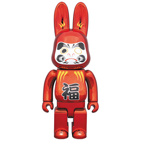 R@BBRICK Daruma Red Plated 400% - ActionCity