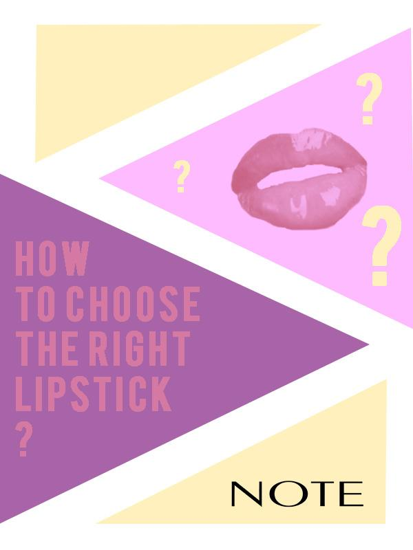 How to Choose the right lipstick for you? - Note Cosmetics Singapore