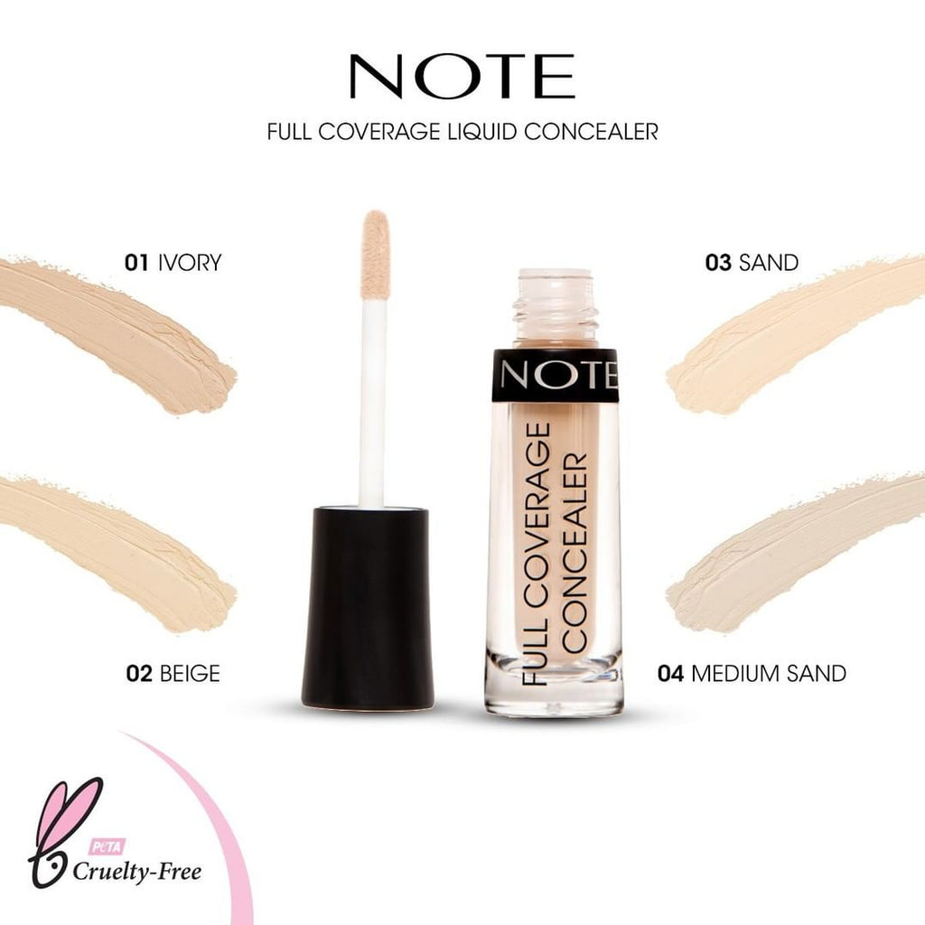NOTE FULL COVERAGE LIQUID CONCEALER - Note Cosmetics Singapore