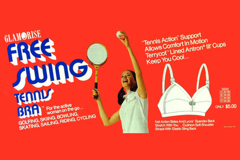 Free swing tennis bra