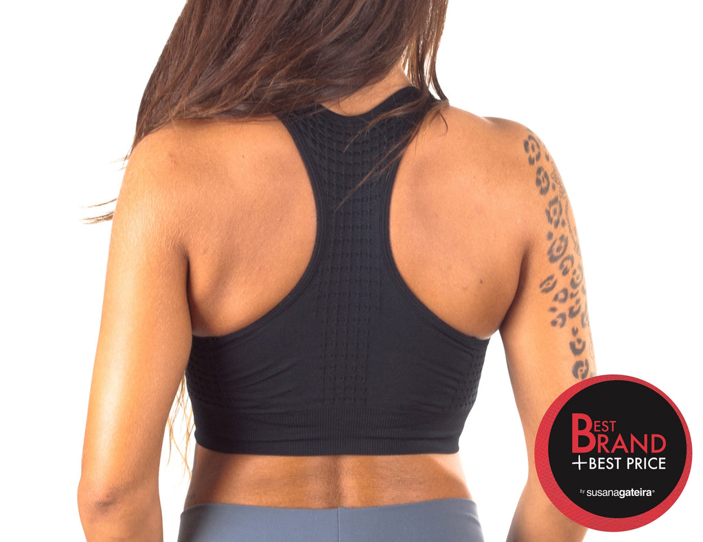 T354 (Honey) - Premium seamless crop top