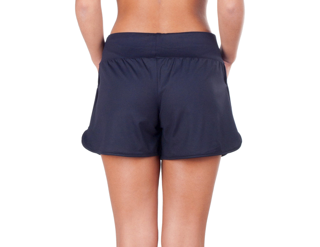 Power Fit Shorts - European Activewear - Black/Blue