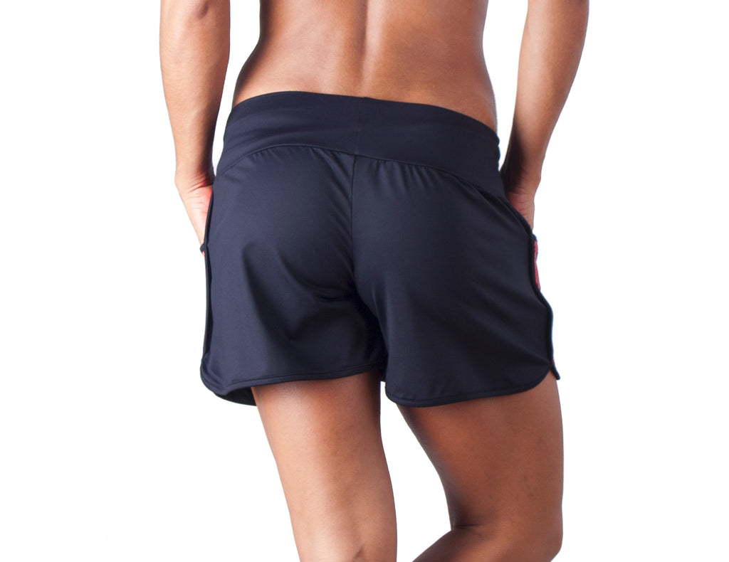 Power Fit Shorts - European Activewear - Black/Red