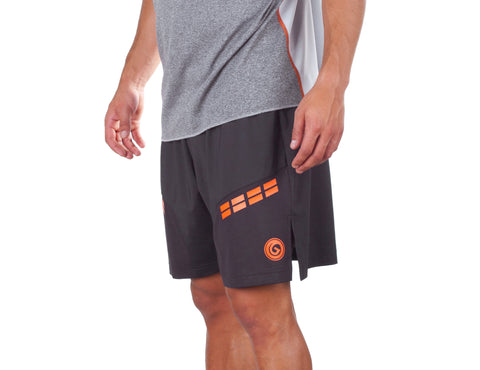 No Fear Light Shorts - European Activewear - Black/Orange