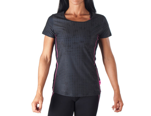 Flash Sport T-Shirt - European Activewear - Black/Pink