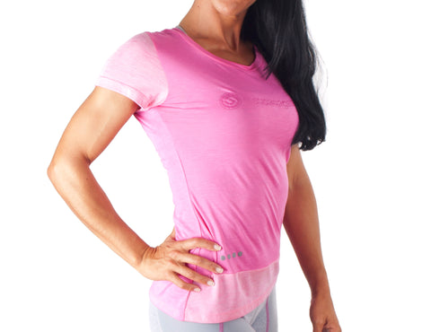 Look Lady T-Shirt - European Activewear - Fuchsia/Pink
