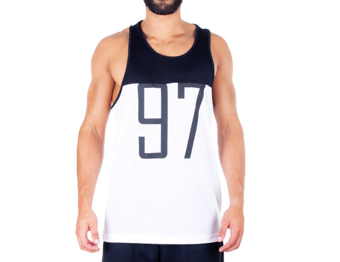 Dark Style Singlet - European Activewear - Black/White