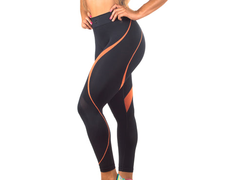 7/8 Legging Wave  Seamless - K364
